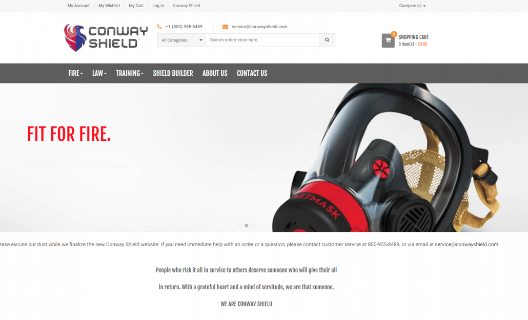 conway shield magento theme upgrade